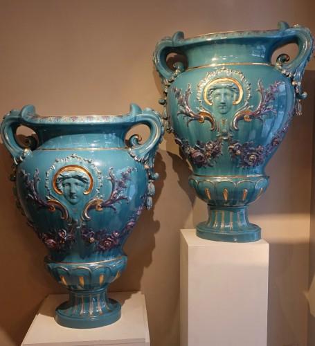 Antiquités - Pair of Large Medicis vases, France, circa 1890