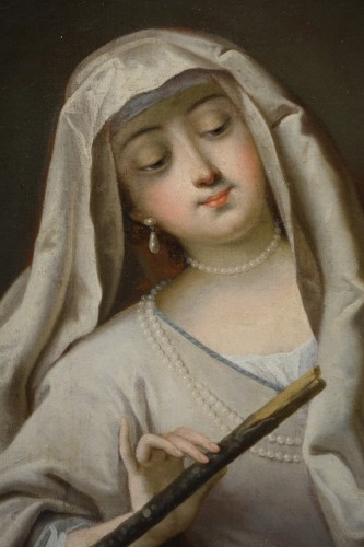 Paintings & Drawings  - Vestal reviving the sacred fire, French school,18th c.