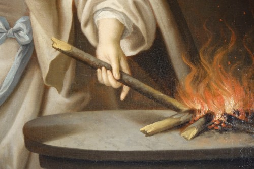Vestal reviving the sacred fire, French school,18th c. - Louis XV