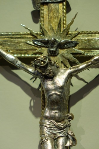 Religious Antiques  - Gold-plated silver cross, Rome, circa 1600