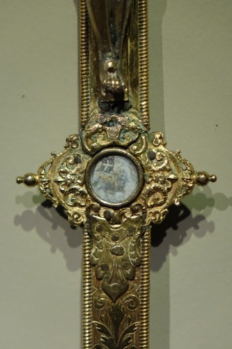 Gold-plated silver cross, Rome, circa 1600 -