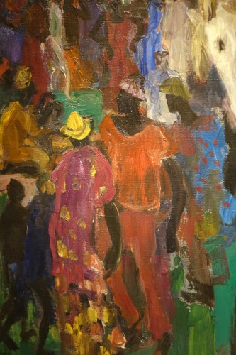 Paintings & Drawings  - Royal procession in Africa,oil on canvas,Paul HANNAUX,around 1930