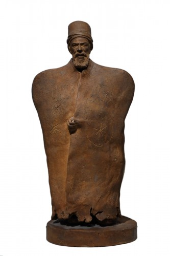 Turkish dignitary, terracotta signed J.RIGOS,circa 1900