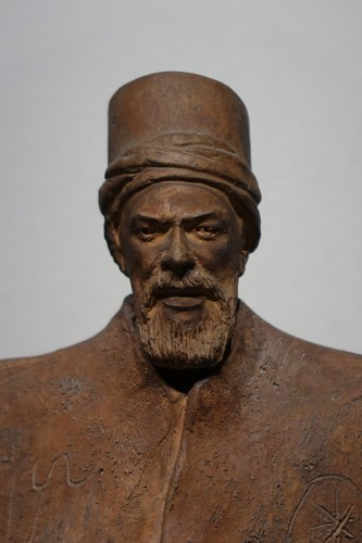 Turkish dignitary, terracotta signed J.RIGOS,circa 1900 - Sculpture Style Art nouveau