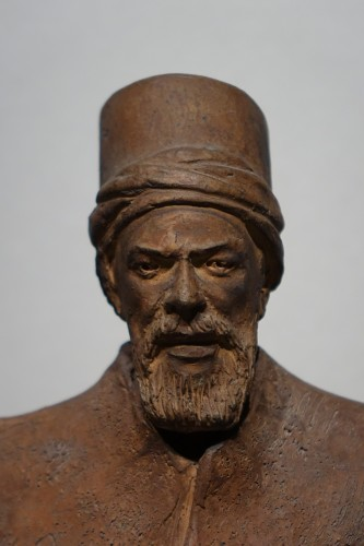 20th century - Turkish dignitary, terracotta signed J.RIGOS,circa 1900