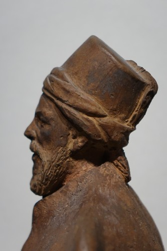 Turkish dignitary, terracotta signed J.RIGOS,circa 1900 - Art nouveau