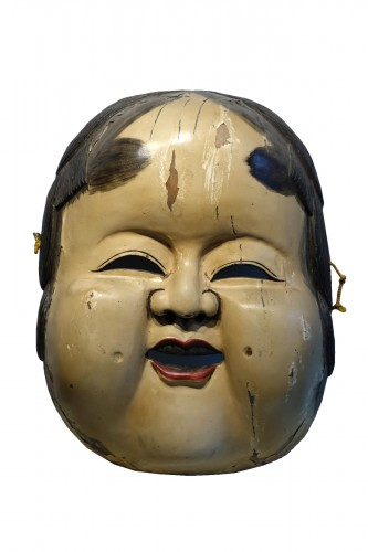 Large theatre mask maker's sign, Japan, circa 1930.