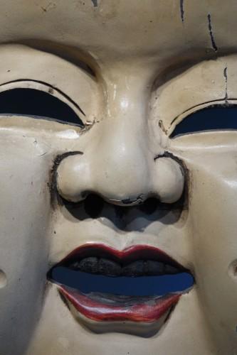 Large theatre mask maker's sign, Japan, circa 1930. - Asian Art & Antiques Style Art Déco