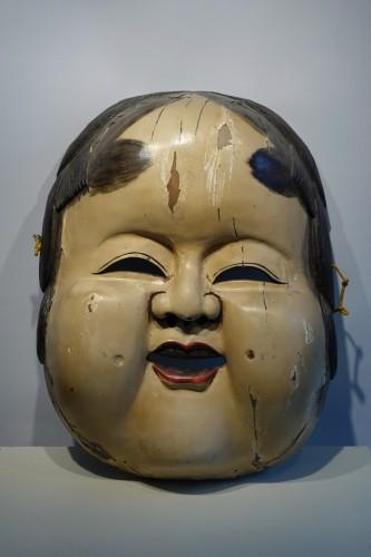 Art Déco - Large theatre mask maker's sign, Japan, circa 1930.
