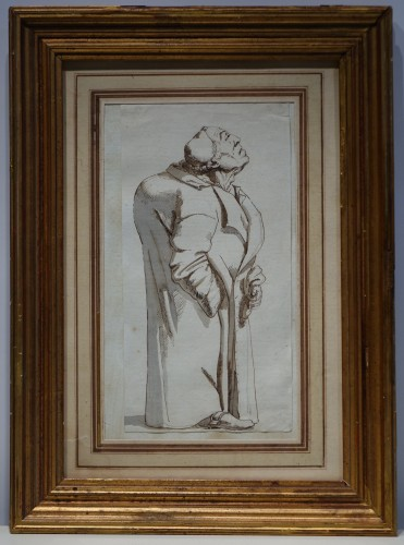 Drawing of a hunchback, Rome, 18th s.P.L. GHEZZI? - Paintings & Drawings Style Louis XV