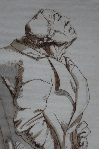 Paintings & Drawings  - Drawing of a hunchback, Rome, 18th s.P.L. GHEZZI?