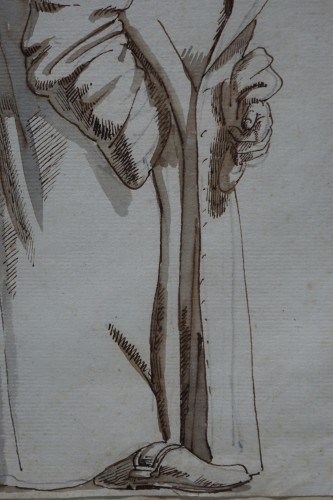 Drawing of a hunchback, Rome, 18th s.P.L. GHEZZI? -