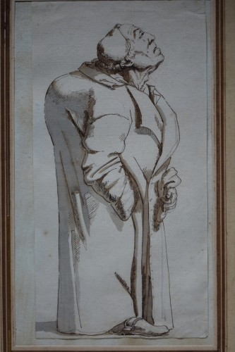 Drawing of a hunchback, Rome, 18th s.P.L. GHEZZI? - Louis XV