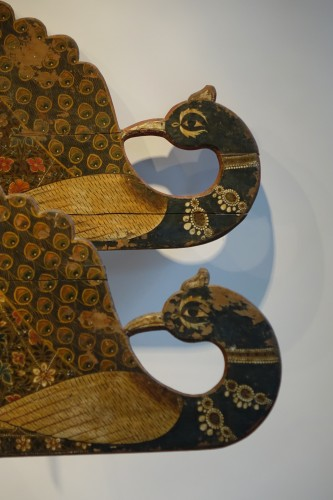 19th century - Two decorative elements of a processional chariot,India,19th c.