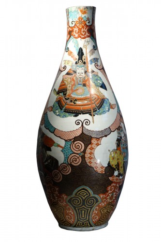Large vase with Samurai motifs - Japan Meiji period