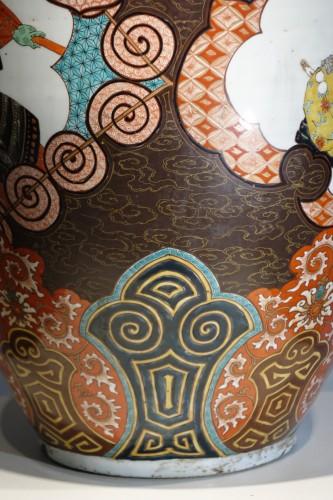 Large vase with Samurai motifs - Japan Meiji period - Asian Art & Antiques Style Art nouveau