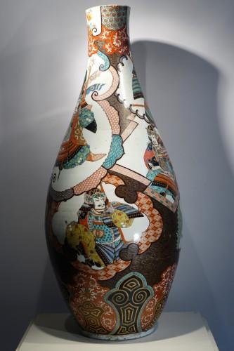 Large vase with Samurai motifs - Japan Meiji period -