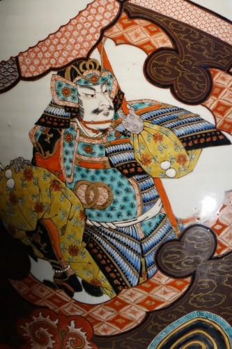 19th century - Large vase with Samurai motifs - Japan Meiji period