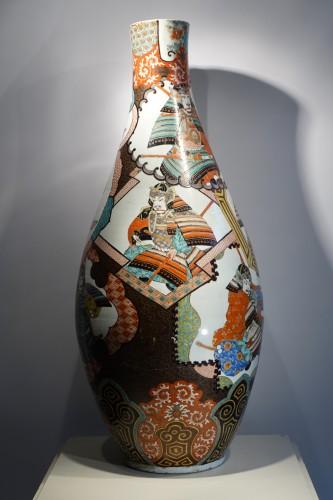 Large vase with Samurai motifs - Japan Meiji period - Art nouveau