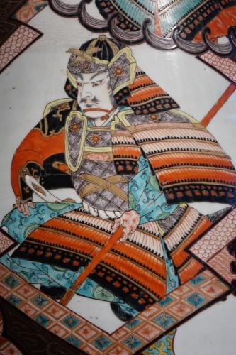 Art nouveau - Large vase with Samurai motifs - Japan Meiji period