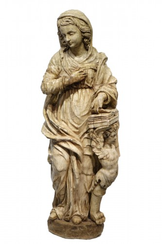 Alabaster statue of the Virgin of the Annunciation,Italy,16th c.