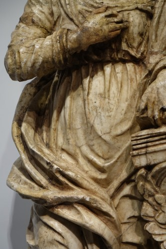 <= 16th century - Alabaster statue of the Virgin of the Annunciation,Italy,16th c.
