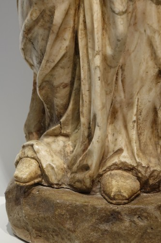 Alabaster statue of the Virgin of the Annunciation,Italy,16th c. - Renaissance