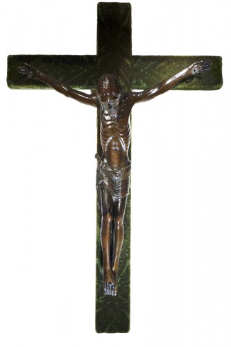 Christ on a cross,bronze,France,beginning of 19th c.