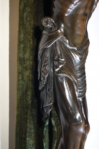 Christ on a cross,bronze,France,beginning of 19th c. - Religious Antiques Style Restauration - Charles X