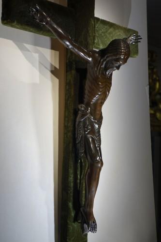 Christ on a cross,bronze,France,beginning of 19th c. -