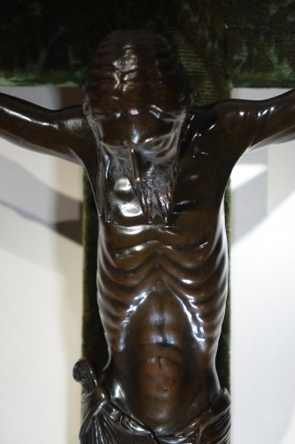 Christ on a cross,bronze,France,beginning of 19th c. - Restauration - Charles X