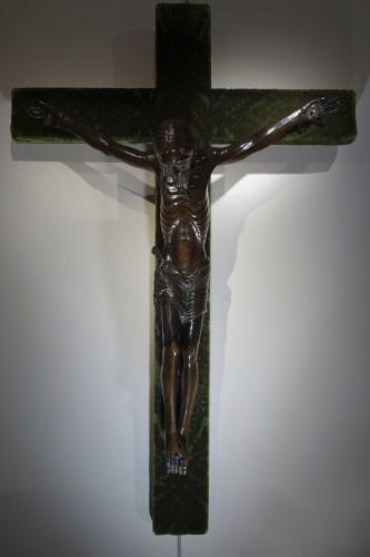 Restauration - Charles X - Christ on a cross,bronze,France,beginning of 19th c.