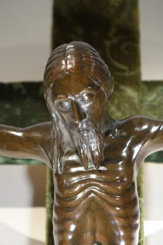 Antiquités - Christ on a cross,bronze,France,beginning of 19th c.