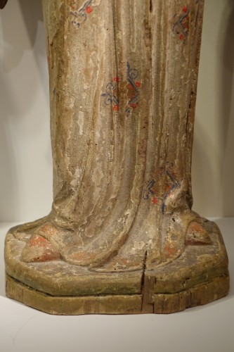 <= 16th century - A pair of 14th century angels, Siena Italy