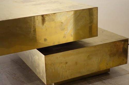 "20th century - Low table ""Magic cube"" - Gabriella CRESPI (1922-2017)"