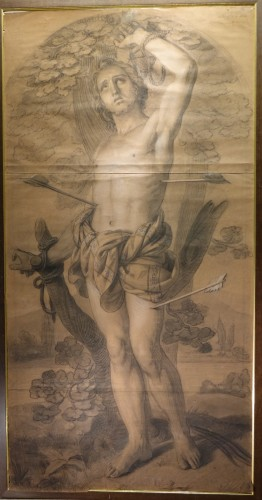 Very large drawing representing  Saint Sebastian as a martyr, circa 1790