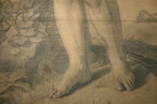 Very large drawing representing  Saint Sebastian as a martyr, circa 1790 - Paintings & Drawings Style Directoire