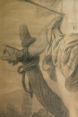 Very large drawing representing  Saint Sebastian as a martyr, circa 1790 -
