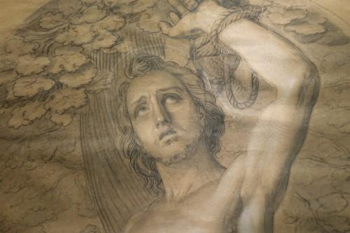 18th century - Very large drawing representing  Saint Sebastian as a martyr, circa 1790