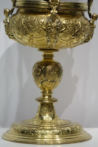 Reliquary-monstrance, gilt copper, late 16th c., France - Religious Antiques Style Renaissance