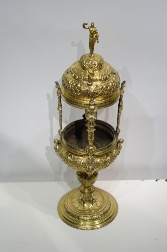 Renaissance - Reliquary-monstrance, gilt copper, late 16th c., France