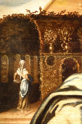 Antiquités -  Susanna and the Elders, oil on oak panel, Antwerp, circa 1580
