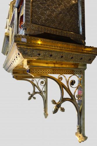 19th century - Pair of reliquary caskets, goldsmith H.E. LESAGE, circa 1890