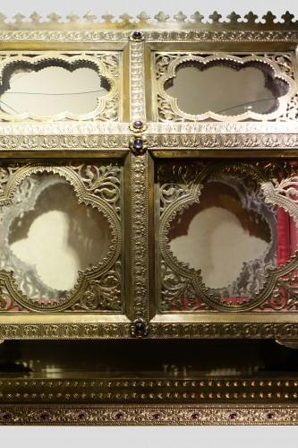 Pair of reliquary caskets, goldsmith H.E. LESAGE, circa 1890 - Napoléon III