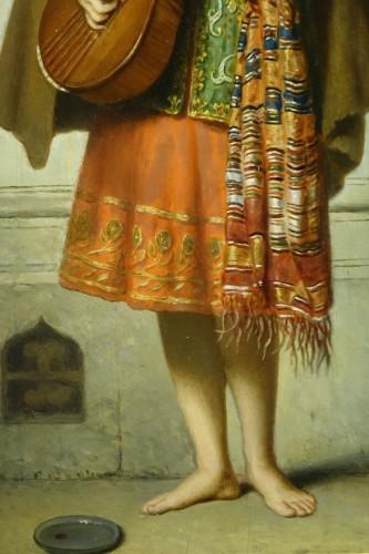 Paintings & Drawings  - Mandolin player - Adolphe Henri DUBASTY (1814-1884)