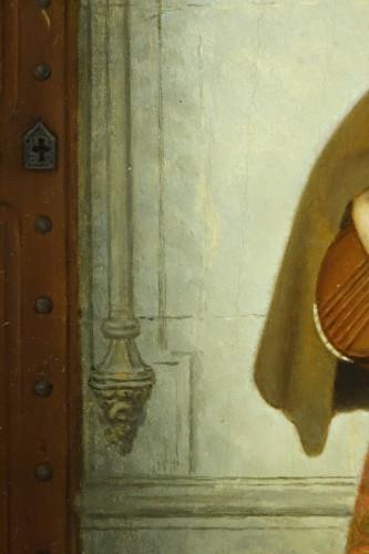 Mandolin player - Adolphe Henri DUBASTY (1814-1884) -