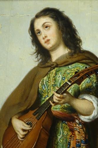 19th century - Mandolin player - Adolphe Henri DUBASTY (1814-1884)