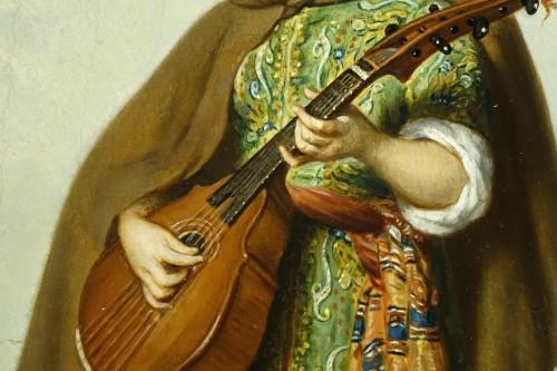 Napoléon III - Mandolin player - Adolphe Henri DUBASTY (1814-1884)