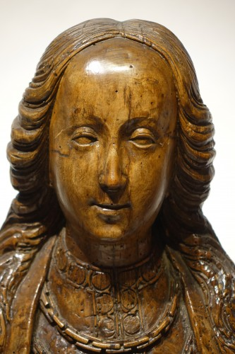 Bust of Saint or reliquary bust - North of France or Flanders, circa 1500 - Religious Antiques Style Renaissance
