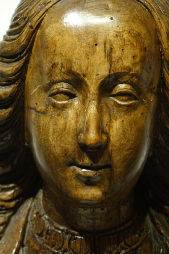 <= 16th century - Bust of Saint or reliquary bust - North of France or Flanders, circa 1500
